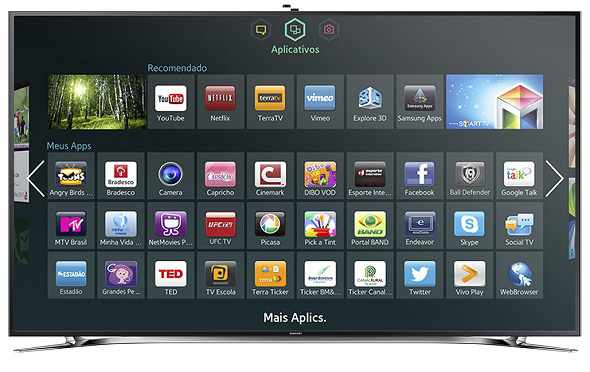 SmartTV 3D LED 55 Samsung 55F9000 4K ULTRA HD 240Hz Smart Interaction Wi-Fi 4 HDMI 3 USB 4 Óculos 3D