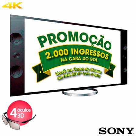 SmartTV 3D LED 55 Sony XBR55X905A 4K 4 HDMI 3 USB 960hz Wifi