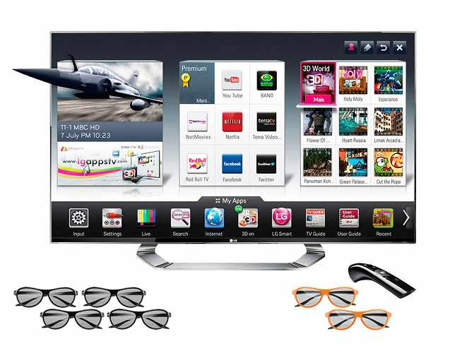 SmartTV 3D LED 65`` LG 65LA96504K Ultra HD 3