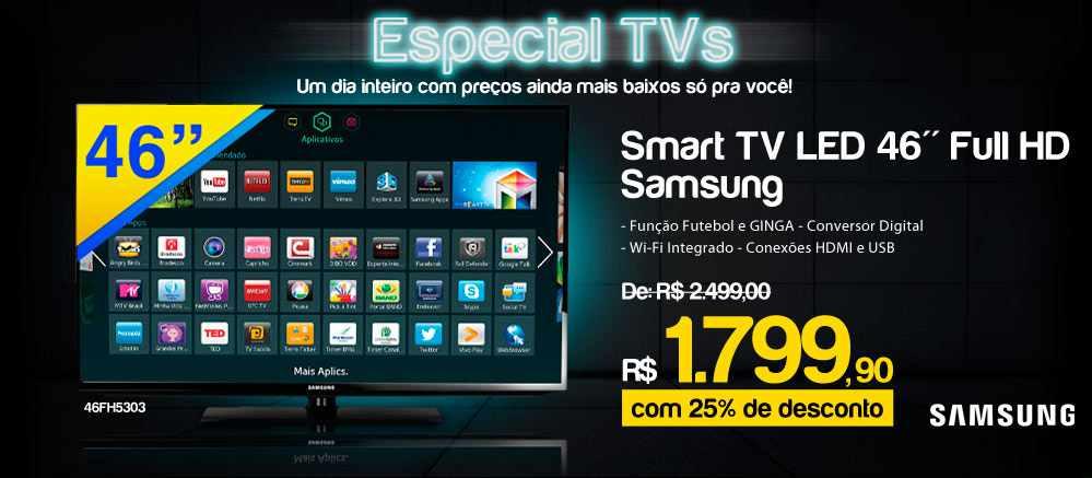 TV Full HD 46 polegadas samsung Ricardo Eletro