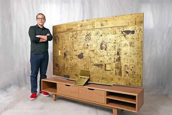 tv coberta com ouro pela samsung 2014