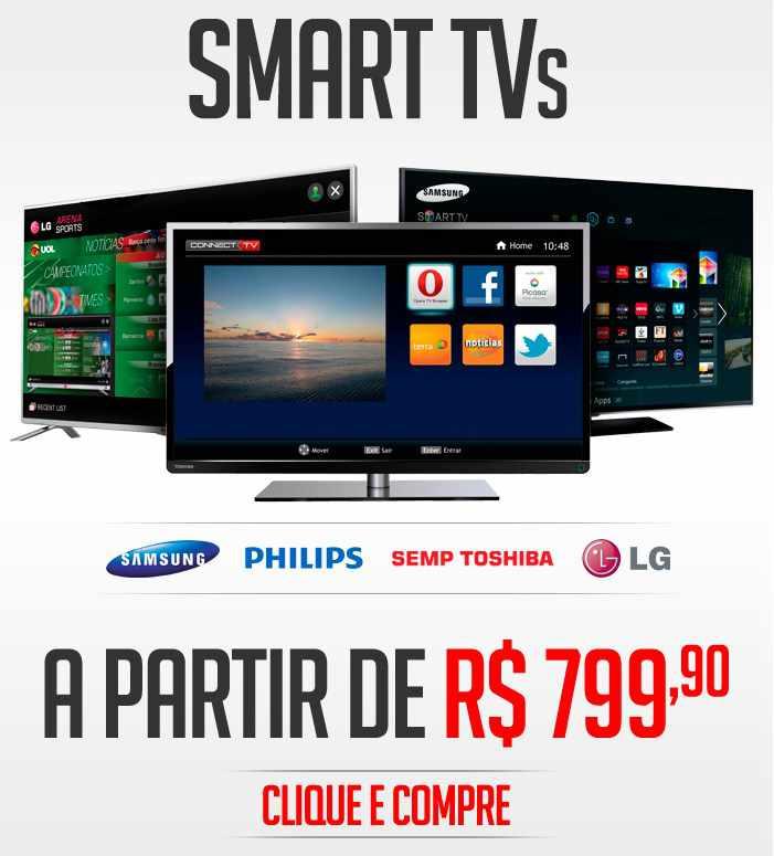 b62db2964 Confira as ofertas para comprar Smart TV na Ricardo Eletro 2015 ...