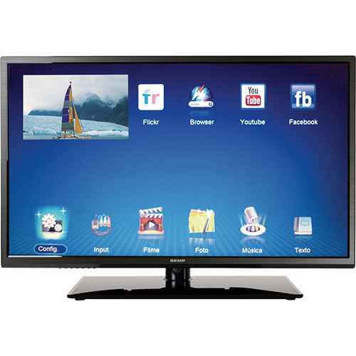 Smart TV LED 40 Semp Toshiba DL4077I Full HD com Conversor Digital 2 HDMI 2 USB 60Hz Grava Programas barata