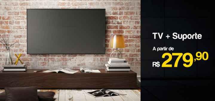 comprar kit de tv com suporte barato