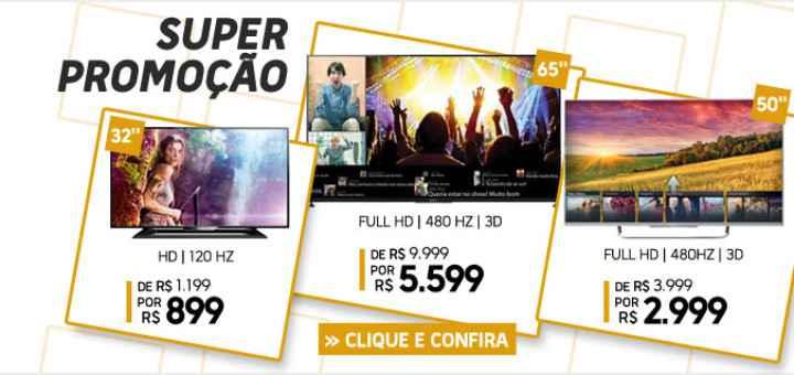super promocao de tv na loja Fnac brasil 2015
