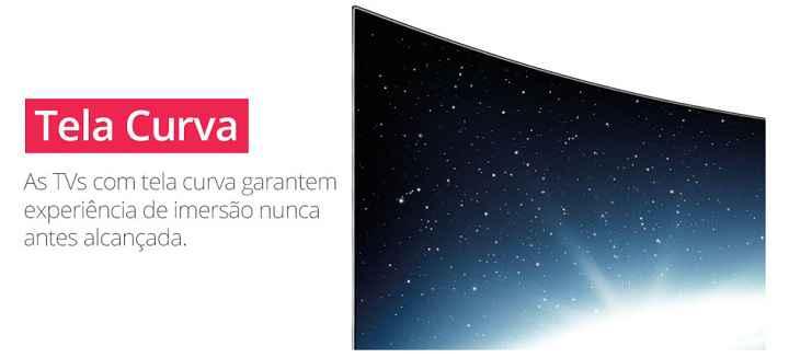 tecnologia de TV com tela curva detalhes
