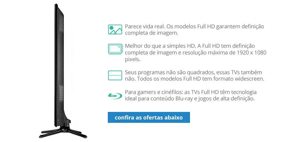 tv com tecnologia full hd para comprar