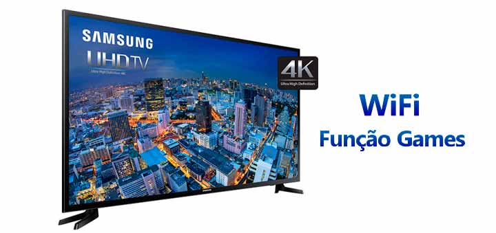 "Smart TV LED 40"" Samsung 40JU6000 Ultra HD 4K"