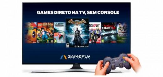 jogos sem console com TV smart samsung gamefly