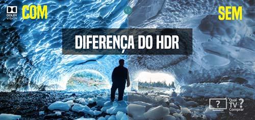 diferença no visual da HDR comparativo